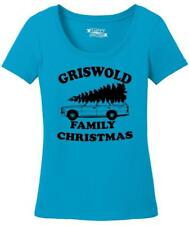 Ladies Griswold Family Christmas Funny Xmas Holiday Shirt Scoop Tee Movie