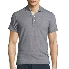 Billy Reid Men's Short Sleeve Smith Micro Dot Polo Shirt Navy/White $95 msrp NWT
