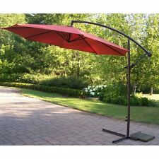 10 Ft. Offset Cantilever Patio Umbrella Metal Pole Home Outdoor Furniture Deck