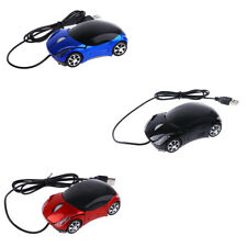 Car Shape Corded Optical Mouse Mice USB LED Cute Model for PC Laptop