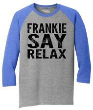 Mens Frankie Say Relax Funny 80's Music Shirt 3/4 Triblend Hollywood 80s