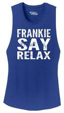 Ladies Frankie Say Relax Funny 80's Music Shirt Festival Tank Hollywood 80s