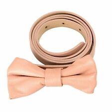 Red Valentino Women's Leather Beige Bow Decorated Skinny Belt Size M L