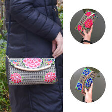Lady Wallet Change Coin Bag Handbag Retro Embroidered Clutch Purse Women Wallet