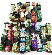 Dog Collar Size M Lot Of 15 Stockings Trees Snowflakes Christmas