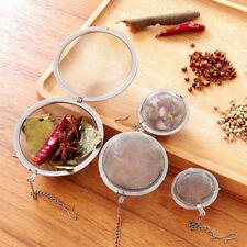 3size Tea Ball Stainless Steel Sphere Lock Spice Strainer Mesh Infuser Filter FT
