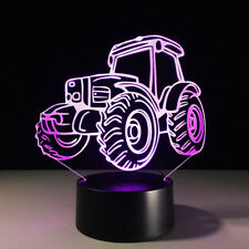 Tractor 3D Night Light 7 Color Change LED Table Desk Decor Sleeping Lamp for Kid