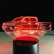 Pickup truck 3D Night Light 7 Color Change Table Desk Decor Sleeping Lamp Kid