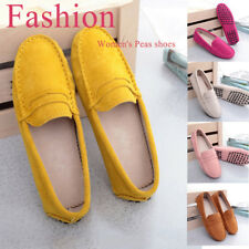 Women's fashion Moccasins Slipper Flats Loafers Suede leather Driving Shoes