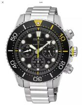 New SEIKO SOLAR 200mt PRO DIVERS CHRONO Stainless Steel Bracelet SSC613P1