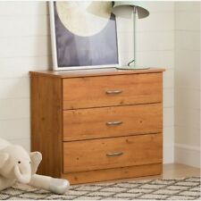 Chest of Drawers Pine Home Bedroom Clothing Storage 3 Drawer Dresser Furniture