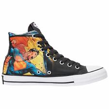 Converse Chuck Taylor All Star Hi Superman Black White Mens Canvas Trainers