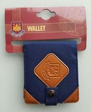 acc550)  West Ham United canvas and leather wallet Brand New