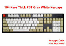 104 Thick PBT Keycap Gray White Top Side Printed Key caps for Cherry MX Keyboard