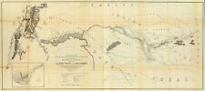 1861 Map From Fort Smith to the Rio Grande Wall Art Poster Print Vintage History