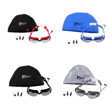 Adjustable Swimming Goggles UV Protection Anti-fog with Case Cap & Ear Plugs