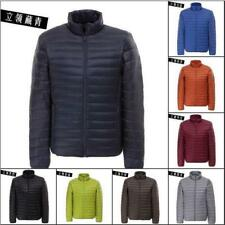 Mens warm Duck Down Jacket Ultralight Hooded Puffer Parka Jacket Coat Packable