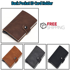 Aluminum Wallet With Back Pocket ID Card Holder RFID Blocking Mini Magic Wallet