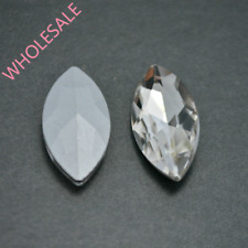 Wholesale Crystal Clear Navette Marquise Rhinestones Point back Glass Strass