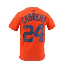 Detroit Tigers Official MLB Majestic Kids Youth Size Miguel Cabrera T-Shirt New