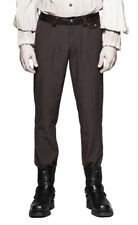 Brown pants man stripes fine white, elegant aristocrat s Punk Rave