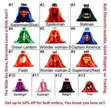 Superhero Cape Mask Set Kids Children's Child's Costume Cos Play Dress up