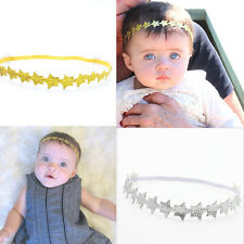 Baby/Girl Toddler Gold/Silver Star Elastic Stretch Party Headband Hairband DS