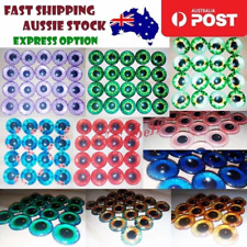 8pcs 20mm Pink Blue Red Grey Green Yellow Glass Doll Eyes Toys DIY Craft Toy