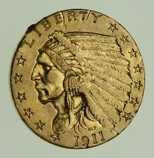 1911 $2.50 Indian Head Gold Quarter Eagle - Circulated *1873