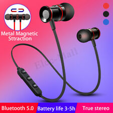 Wireless Magnetic bluetooth 5.0 Stereo Earphone Headset In-Ear Earbuds Headphone