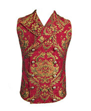 Jacket red sleeveless for man with embroidery gold, aristocr Devil Fashio