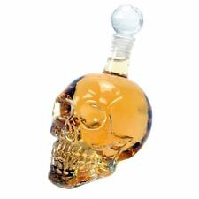 Crystal Transparent Skull Glass Vodka Bottle Gothic Style Suitable For Party AS