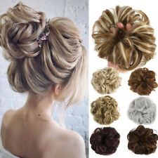2Pcs Ptensions Curly Messy Bun Hair Piece Scrunchie Cover Hair Real Human Hair
