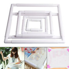 KM_ Plastic Frame Embroidery Cross Stitch Sewing Stand Lap DIY Accessories Eye