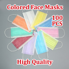 100PCS Colored Disposable Face Masks 3Ply Medical Surgical Dust Masks