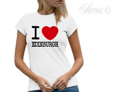 NEW I LOVE EDINBURGH GIRLS WOMENS FIT T-SHIRT S M L XL