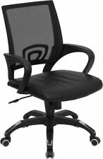 Mesh Back Leather Seat Computer Office Desk Chair