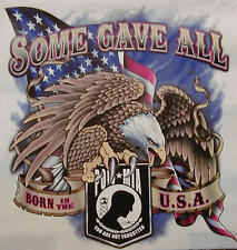 POW MIA EAGLE SOME GAVE ALL BORN IN THE USA SHIRT #1100