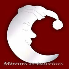 Acrylic Etched SLEEPING MOON Mirror *PERSONAISED4FREE*