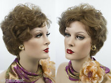 Stunning Short Human Hair  Blonde Brunette Red Wavy Wigs Layered Tapered Back