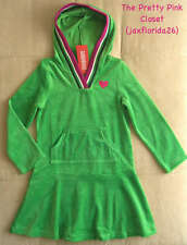 Gymboree Merry and Bright Hooded Green Velour Dress NEW 5 & 7
