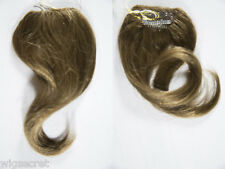 Premium Quality, Straight Human Hair 8 In by 3in Clip on Extension Piece