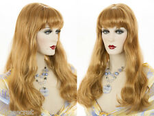 Long Luxurious Blonde Brunette Red Straight Skin Top Wigs Curls At The Bottom