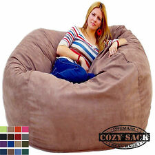 Large Bean Bag Chair Deluxe Foam Filled Factory Direct 5' Cozy Sack