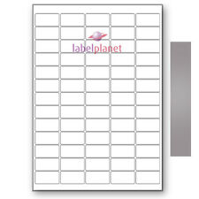 65 Per Page A4 Blank Self-Adhesive Mini Metallic Silver Labels Label Planet®