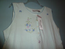 Sante Intimate 100% Cotton Mint Colored Sleeveless Nightgown (NWT)