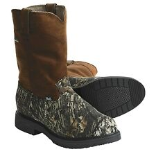 """Justin 10"""" Boots Mossy Oak Camo Men's Sizes 7.5 & 8.5 Gore-Tex Pull-On/Work 6608"""