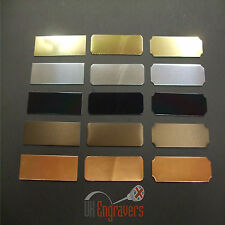 10 x ENGRAVED 50 x 16MM ADHESIVE TROPHY PLAQUES AWARD PLATE PICTURE FILM CELLS