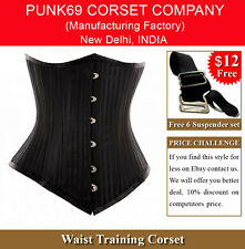 Sturdy Spiral Steel Boned Longer Waist Training Underbust Corset Tight Lacing