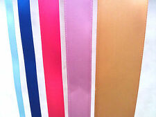 "Satin Ribbon 50, 100 Yards Roll 1/4"" 3/8"" 5/8"" 7/8"" 1.5"" 2"" - 100% Polyester"
